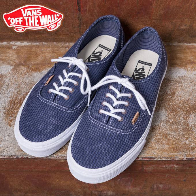 Vans sneakers AUTHENTIC CALIFORNIA California authentic (Washed  Herringbone) Blue Blue (washed herringbone) ◇ ◇ cb6e6ac70c