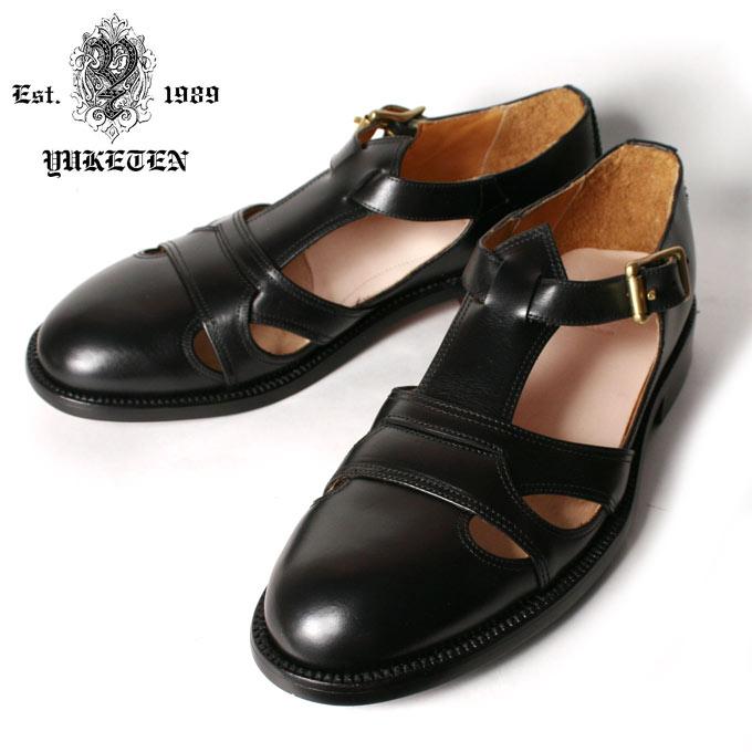 【YUKETEN】ユケテンSummer Leather Sandal サマーレザーサンダルBLACK ブラック《S-40》
