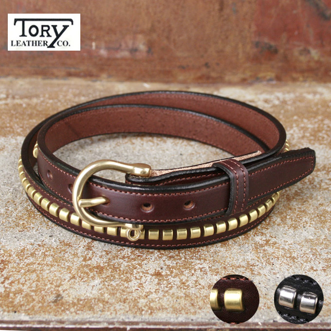 Made In USA【Tory Leather】トーリレザー トリーレザー3/4インチ クリンチャーベルト スタッズベルト全2色