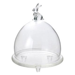 FR-922 ラビットグラスドーム SS 花器 花瓶 価格 交渉 送料無料 コンポート フラワーベース 国内正規品 花資材 花材 ガラス 松村工芸