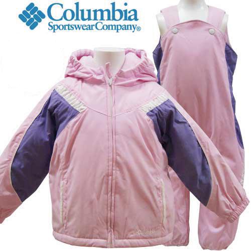 高機能 Columbia コロンビア キッズ 子供 スキーウェア 4才 110cm 上下セット つなぎ 防寒 アウトドア ウィンタースポーツ 暖か 【アメリカ買付商品】