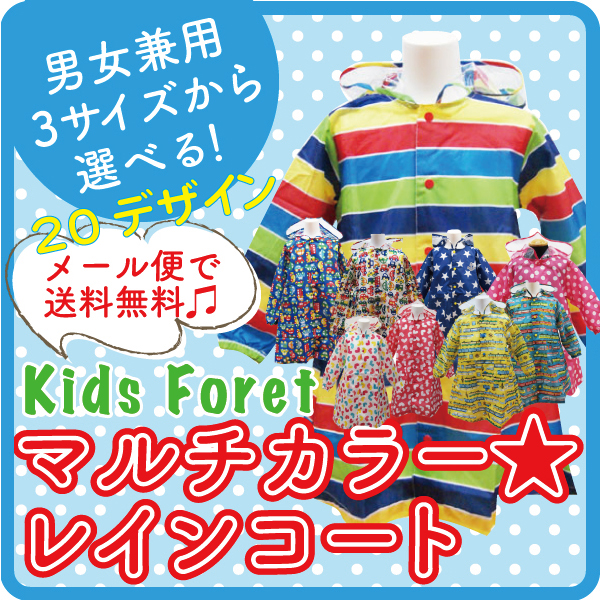 KidsForet キッズフォーレ bags for Macs & storage bag & transparent part with Rainbow