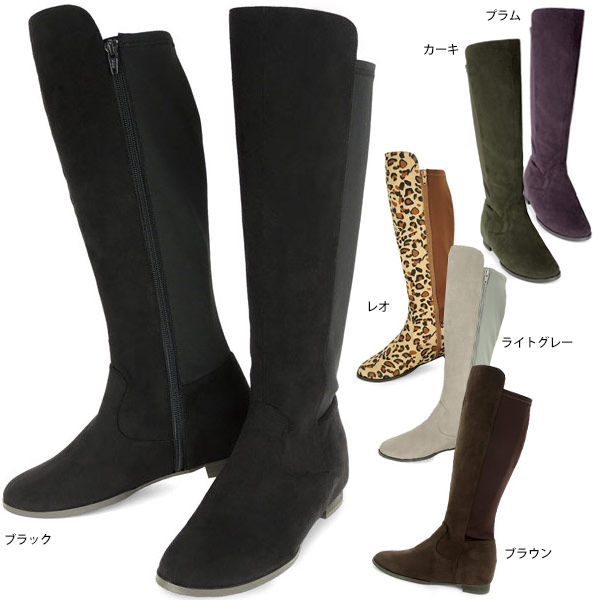 85de0edf2716 No.444257 Kroll barrier stretching Combi in her boots 10P23Aug15 (Ladies  Shoes fashion shoes boots heel in her Black Suede grey long women s shoes  store ...