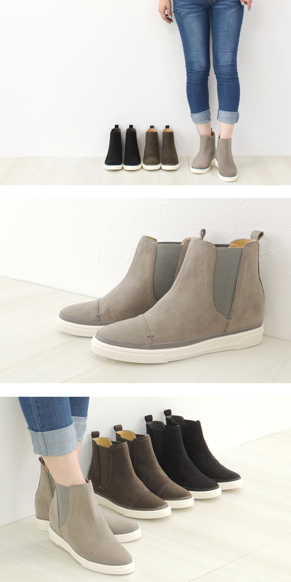 cf4945dc6ef5d No.578258 Kroll Barrie said Gore sneaker boots (ladies women s shoes  platform women s simple sneakers slip-on rubber ankle boots) 10P24Oct15