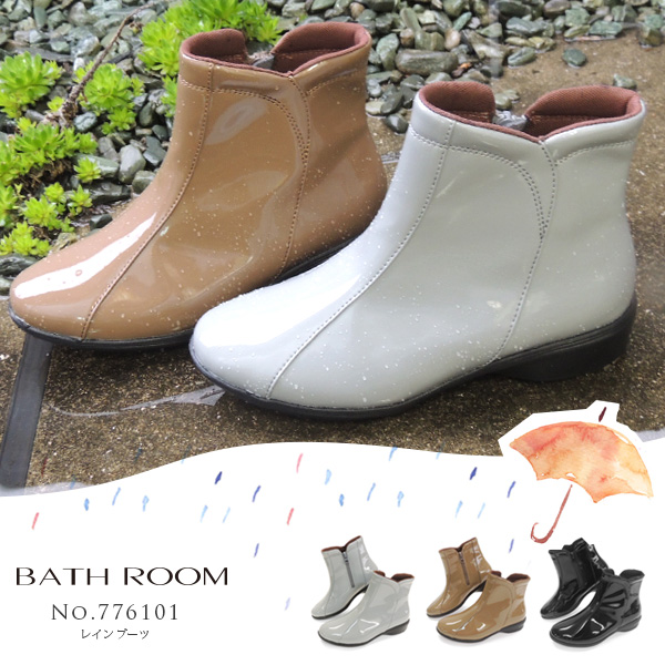 776101 Bathroom Short Rain Boots The Stylish Pullover Shoes Heel Commuting
