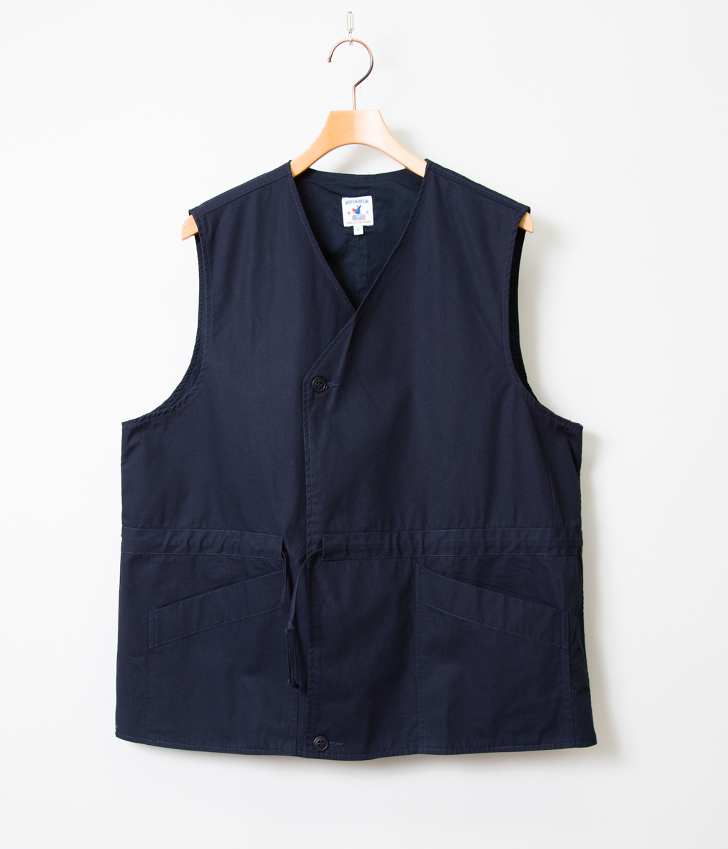 ARPENTEUR アーペントル LATERAL VEST ベスト (NAVY/SAND)