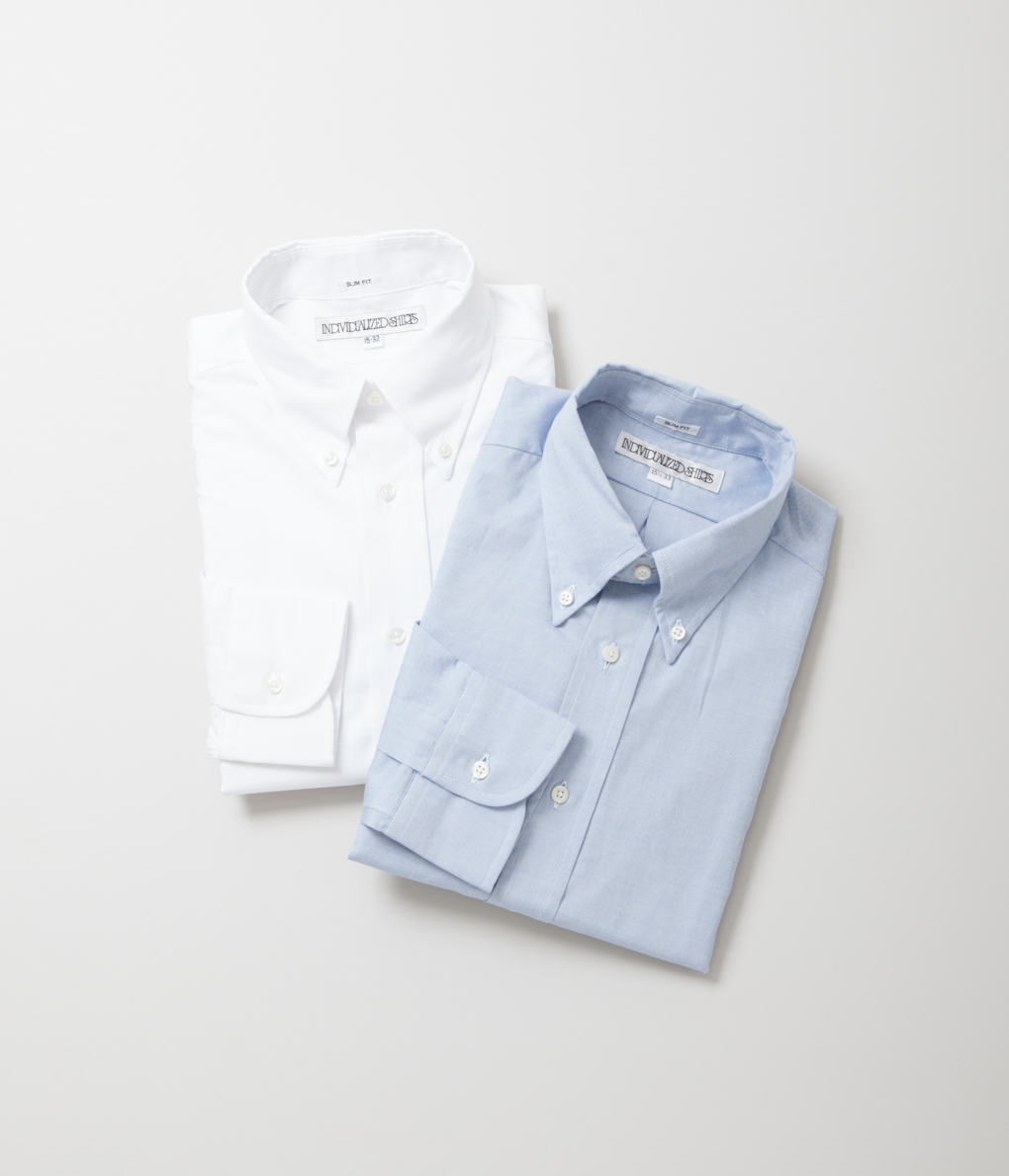 INDIVIDUALIZED SHIRTS インディビジュアライズドシャツ SLIM FIT PINPOINT OXFORD