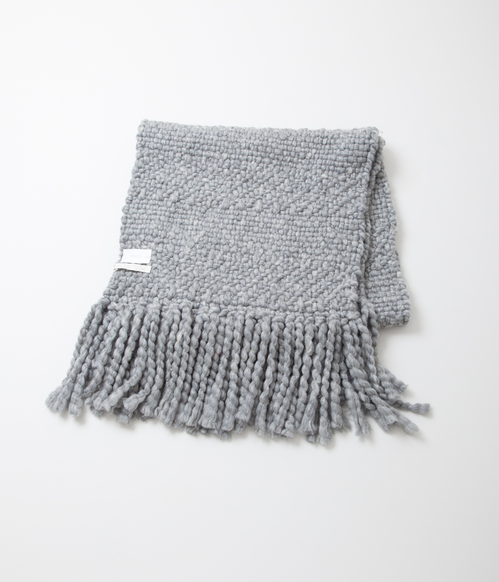 (OUTLET/返品・交換不可)Maydi マイディ Long scarf woven in hand-loom ローゲージニットストール