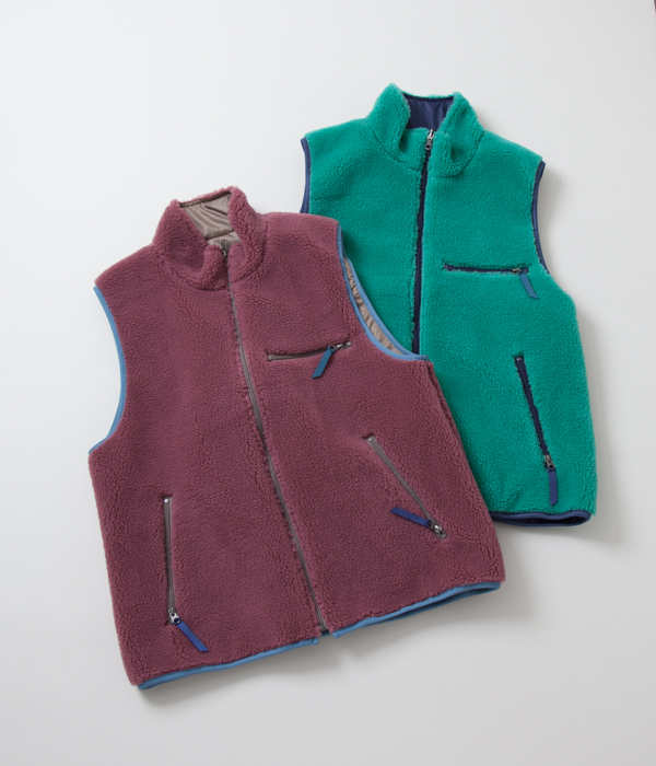 (OUTLET/返品・交換不可)CAL O LINE キャルオーライン RECYCLE PILE VEST リサイクルパイルベスト(2色展開)
