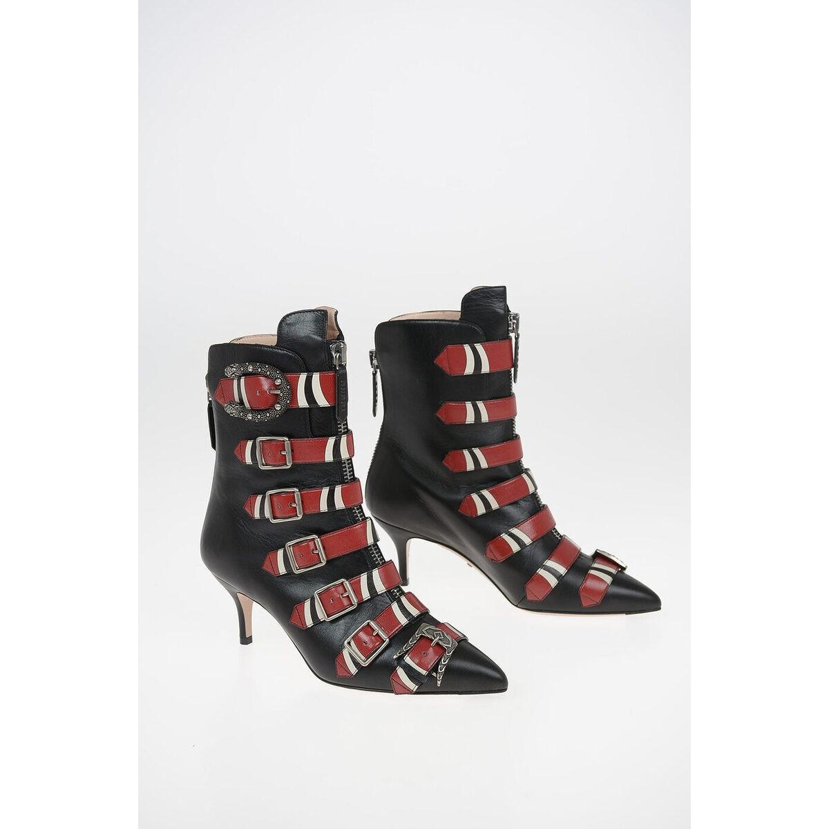 想像を超えての GUCCI dk/グッチ Leather Black レディース Ankle 6cm Leather Ankle Boot dk, 横濱ジュエリーCAFE:0cd00bb3 --- kalpanafoundation.in