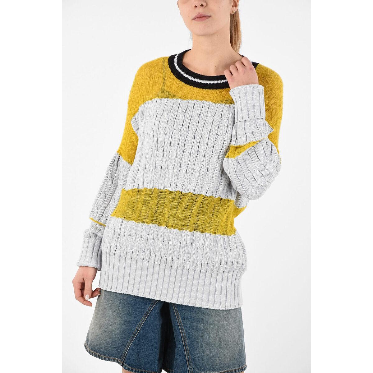 Cable MARGIELA/メゾン Giallo, Grigio Knit マルジェラ dk Sweater レディース Oversize MM1 MAISON