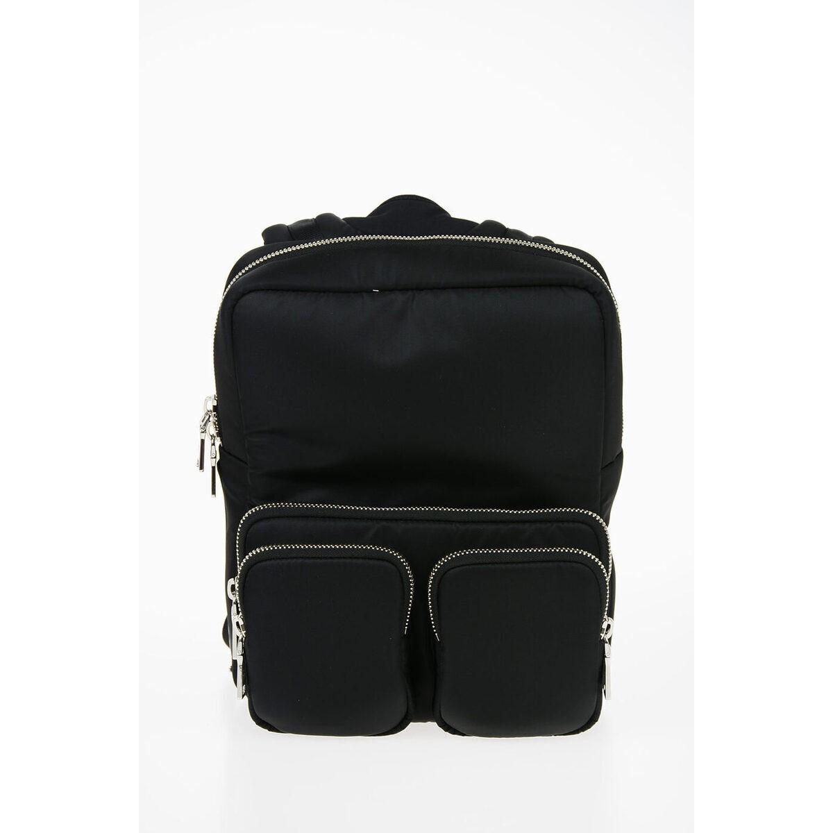 定番 PRADA/プラダ Black Backpack Zip メンズ Fabric Multi-Pocket Backpack with Black Zip Closure dk, アイズインテリアショップ:90f525df --- wedding.houzerz.com