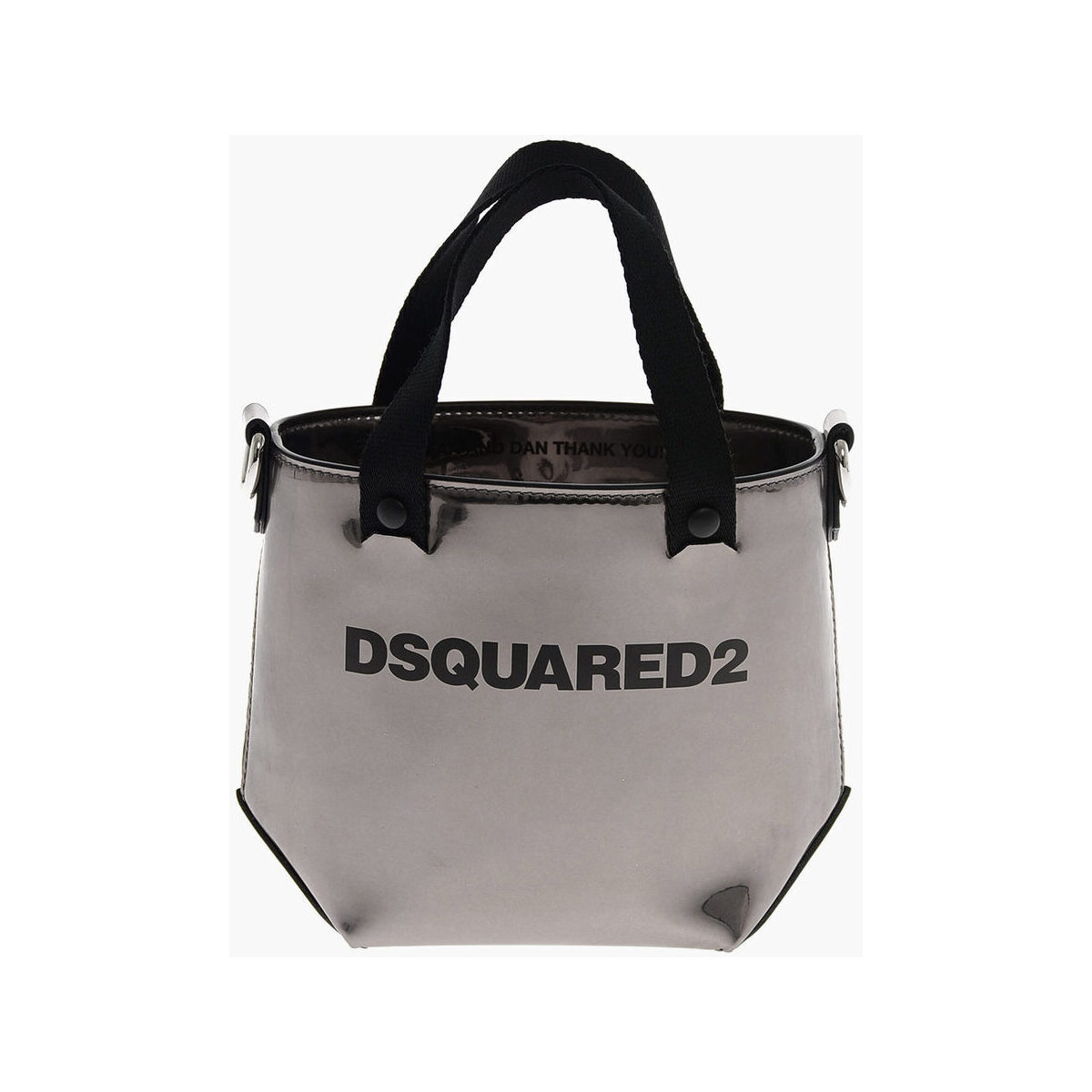 DSQUARED2/ディースクエアード Silver レディース Mini Shoulder Strap Bucket Bag dk