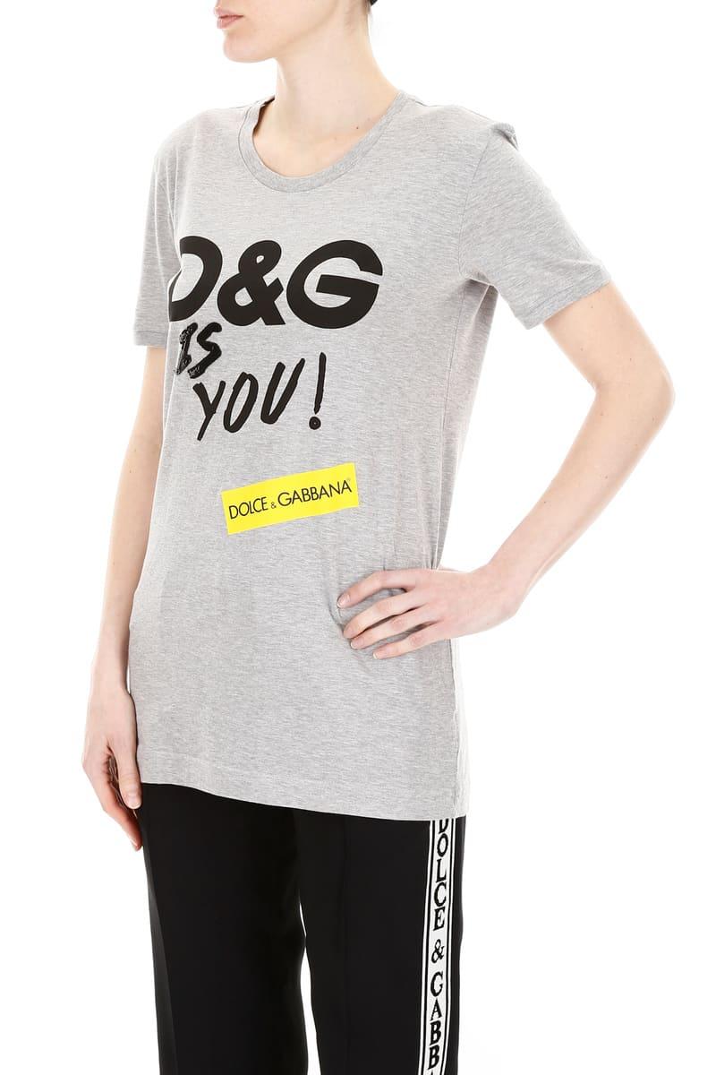 bcdc9a8b ... DOLCE&GABBANA/ Dolce & Gabbana T-shirt VARIANTE ABBINATA Dolce  &