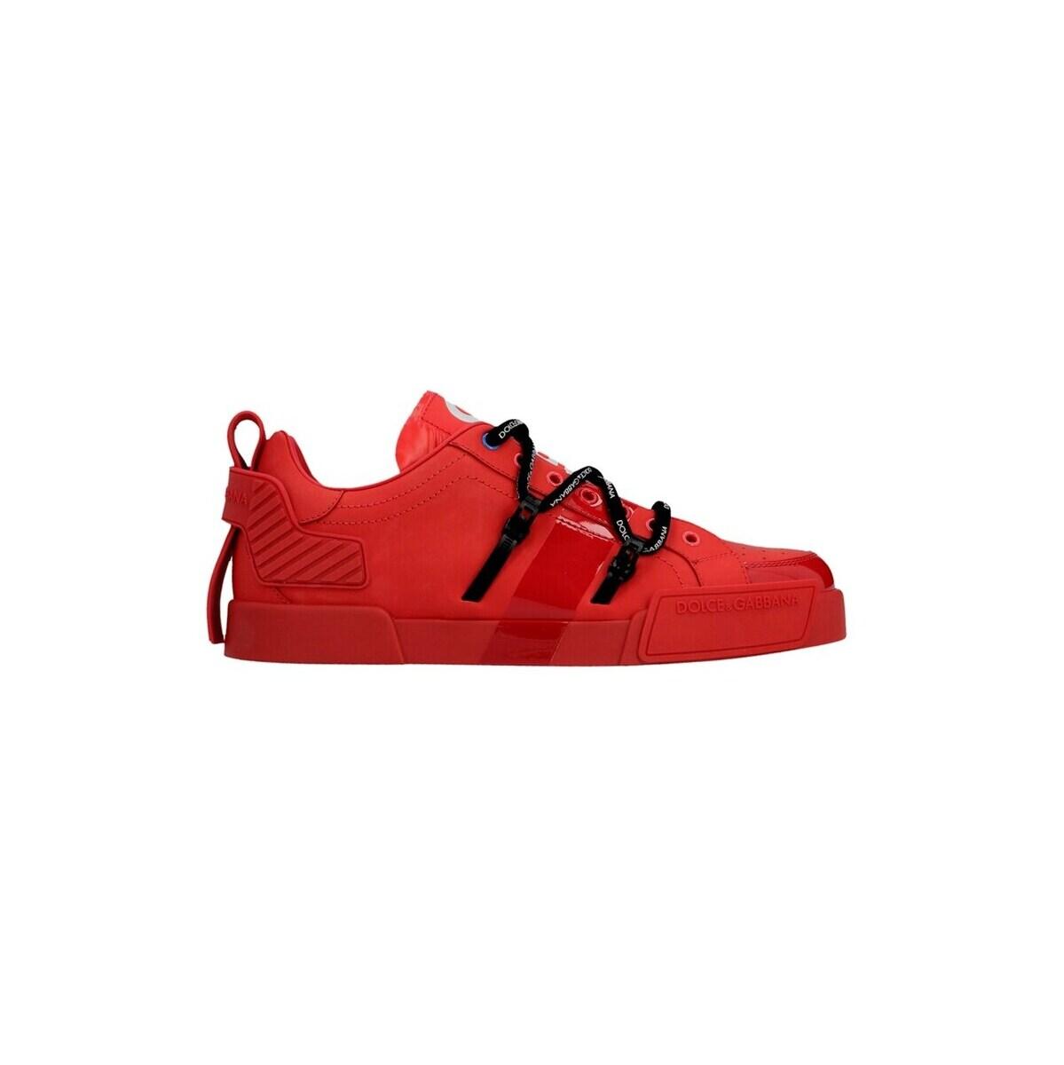 トミカチョウ DOLCE&GABBANA/ドルチェ&ガッバーナ 春夏2021 Red 'Portofino' sneakers sneakers メンズ メンズ 春夏2021 CS1783AJ98689689 ju, BASE 【ベース】:ff7893db --- briefundpost.de