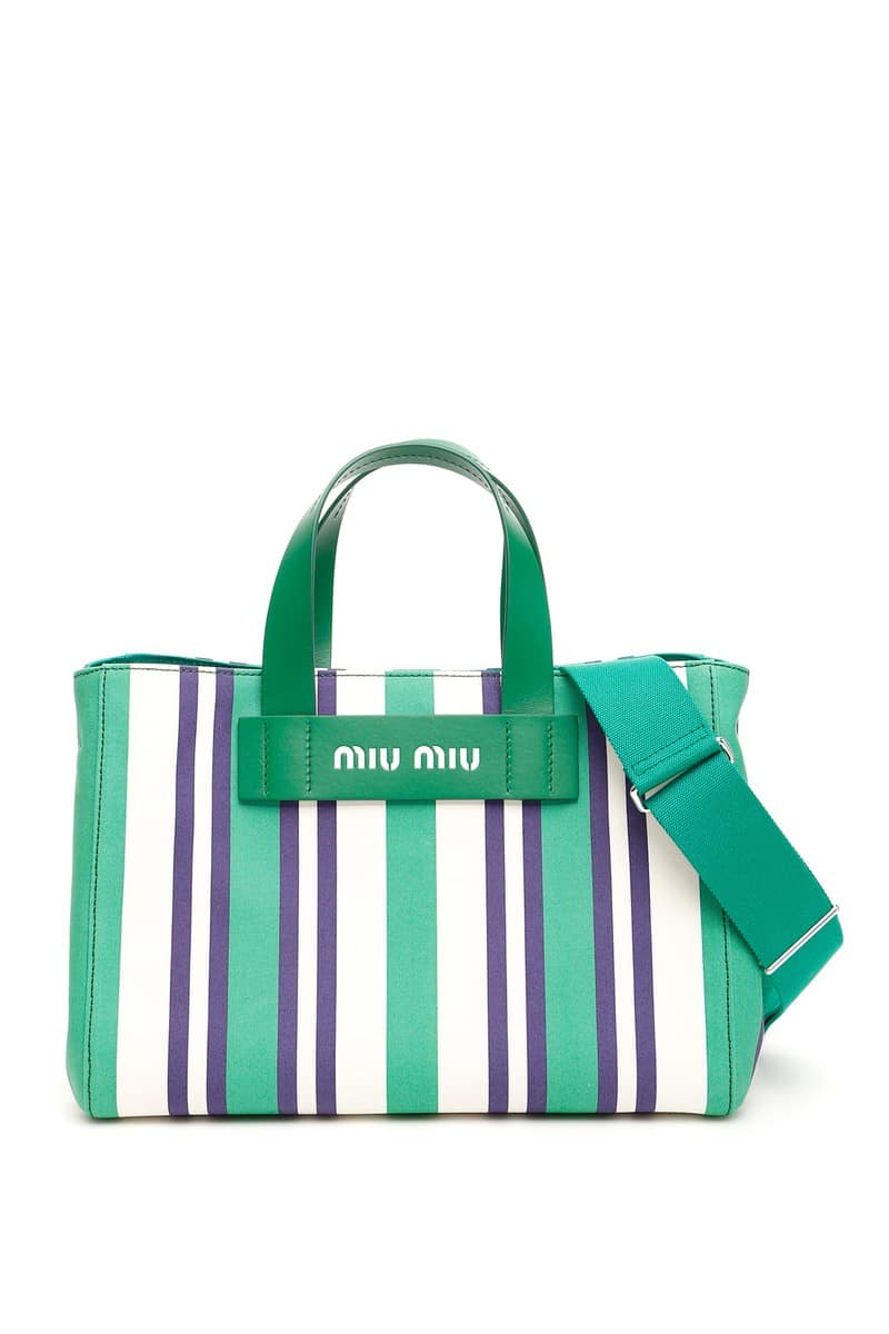 MIU MIU/ミュウ ミュウ 2WAY 5BA111 バッグ VERDE OOO Miu striped miu multicolor striped shopper レディース 春夏2019 5BA111 V OOO 2B7C ik, ミナミカタマチ:c076daad --- sunward.msk.ru