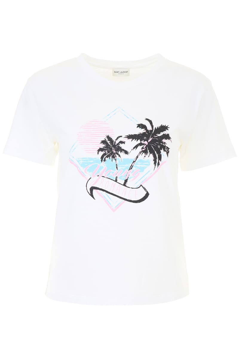 0ef66ee7955b6 Categories. « All Categories · Women's Clothing · Tops · T-shirts · SAINT  LAURENT PARIS/ Yves ...
