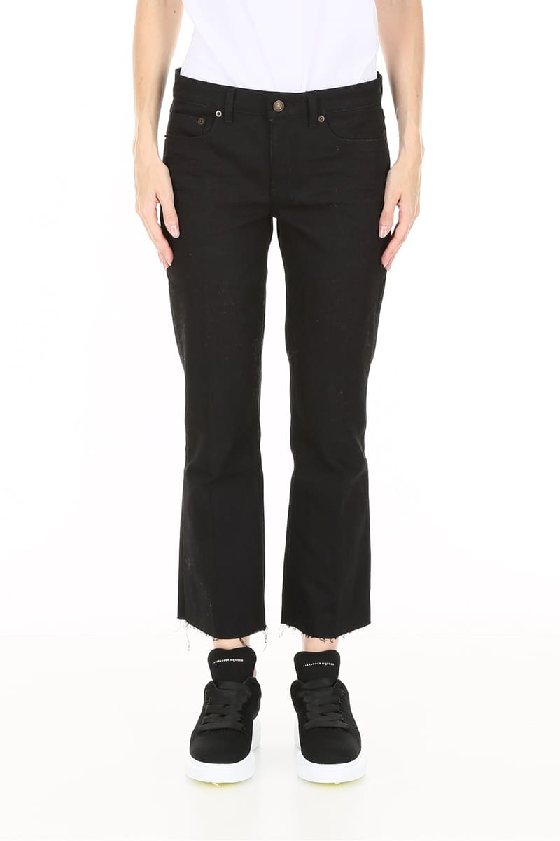 f052c13551d ... SAINT LAURENT PARIS/ Yves Saint-Laurent denim underwear USED BLACK  Saint laurent bootcut jeans ...