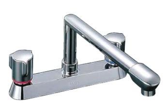 キッチン用 水栓 蛇口 シングルレバー混合水栓 壁付け シャワー吐水 クロマーレ 一般地 sfhb433sy