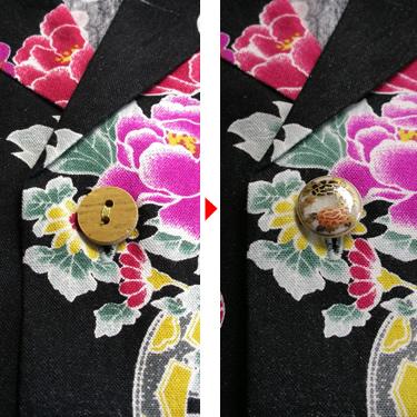 프리미엄 화려한 셔츠(화려한 셔츠+사츠마 버튼)★화려한 셔츠는 별도 주문해 주십시오