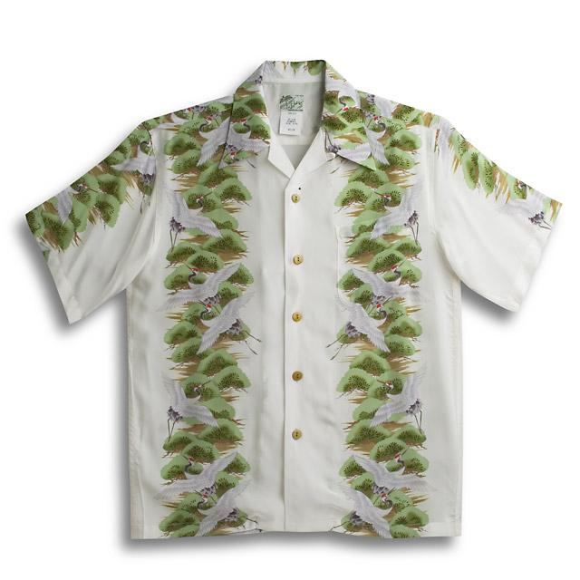 화려한 셔츠・라라 조개(LALAKAI)|HL-031학|아이보리|맨즈|티끌째응실크|경상 천|반소매|알로하 타워(화려한 셔츠 판매)