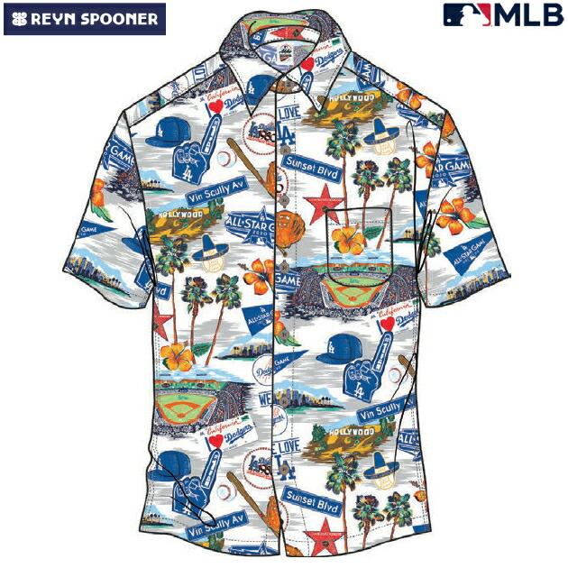 アロハシャツ|レインスプーナー(REYN SPOONER)|B2885-121-20 |MLB 2020 メジャーリーグ公式(MLB SCENIC)|メジャーリーグベースボール オールスター(ALL STAR)|コットン100% |ノーマル襟|半袖|アロハタワー(アロハシャツ販売)