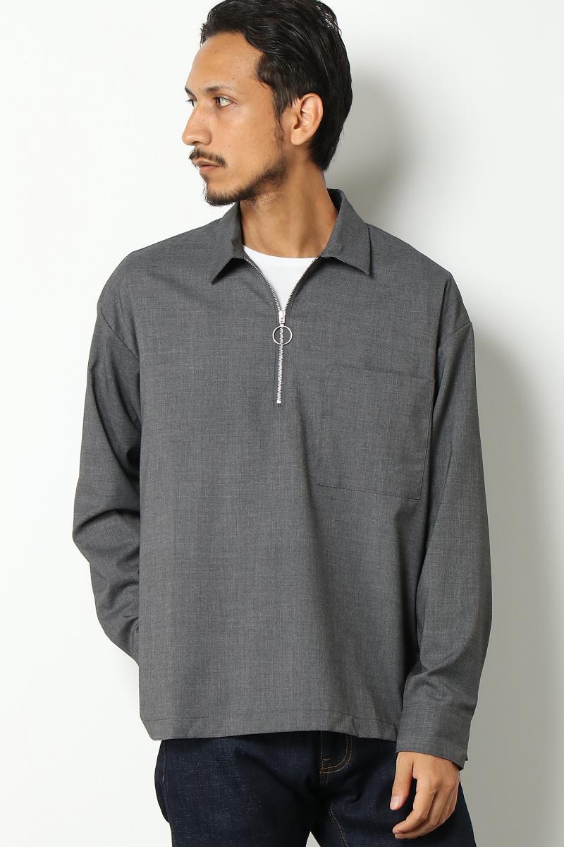【WEB先行】ハーフジップシャツ