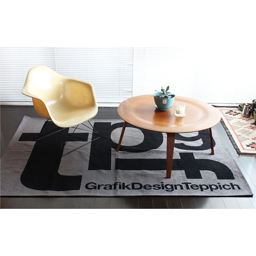 【送料無料】Tpgf ラグ 140x200cm ■ 室内用 ラグ マット シンプル モダン タイポグラフ【TOKYO DESIGN CHANNEL】