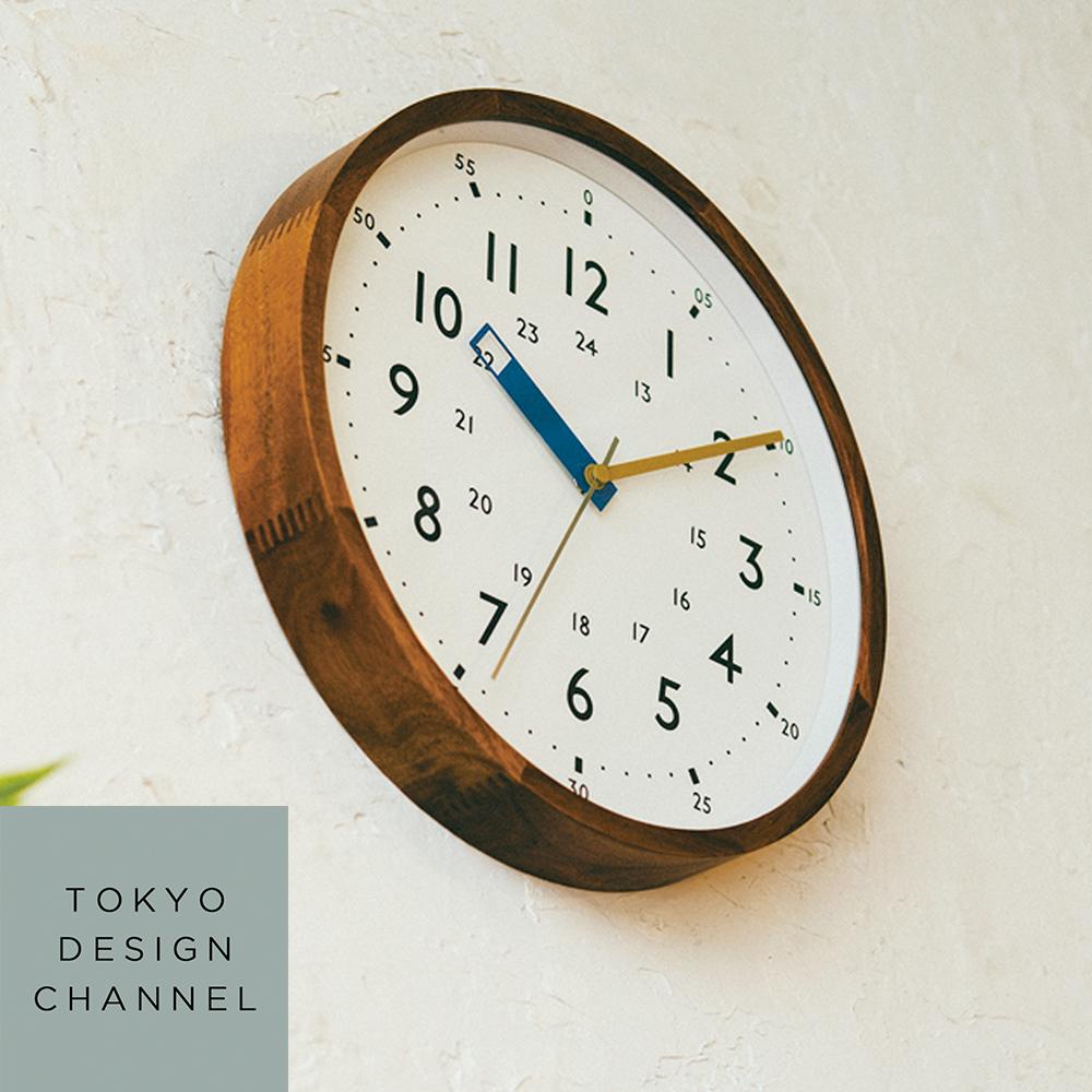 利便性を兼ね備えた遊び心あるデザイン オンライン限定商品 ポイント20倍 9 4 ついに入荷 20:00~9 13 01:59まで 送料無料 ストゥールマン ■ インテリア 時計 掛け時計 TOKYO DESIGN CHANNEL 壁掛け 24時間表示