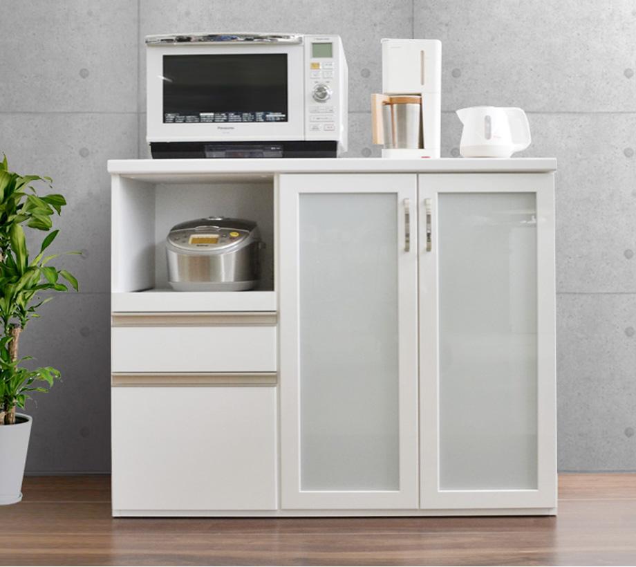 キッチンカウンター スパイス 120cm幅 ホワイト ブラウン