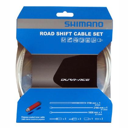 9 引き出物 25は 5倍 18%OFF エントリーで更にポイントUP SHIMANO ホワイト シマノ ポリマーコーティングシフトケーブルセット ROAD