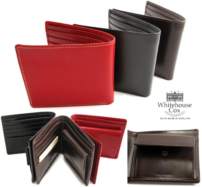 (ホワイトハウスコックス) Whitehouse Cox #S-7532 NoteCase With CoinCase 2つ折り 財布 ブライドルレザー Bridle Leather英国製 フォーマルにもカジュアルにも! (送料無料/男女兼用/ビジネスオンオフ/ブラウン/ブラック/ネイビー/本革/取り寄せ可)