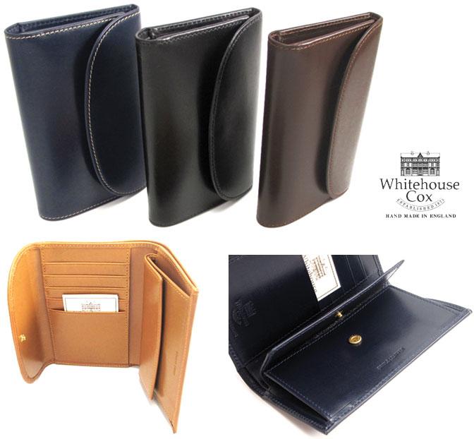(ホワイトハウスコックス) Whitehouse Cox #S-7660 3FoldPurse 3つ折り 財布 ブライドルレザー Bridle Leather ウォレット 英国製 フォーマルにもカジュアルにも! (送料無料/男女兼用/ビジネス/本革/ブラウン/ブラック/ネイビー/取り寄せ可)