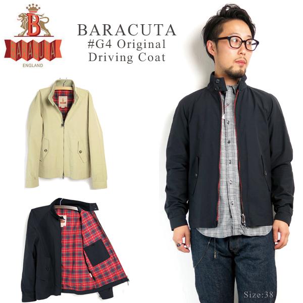 BARACUTA #G4 Original Men 's Driving Coat HarringtonJacket SwingTop ハリントンジャケット 스윙 톱 오리지날 코 튼 폴 리 프레이저 격자 영국 건축
