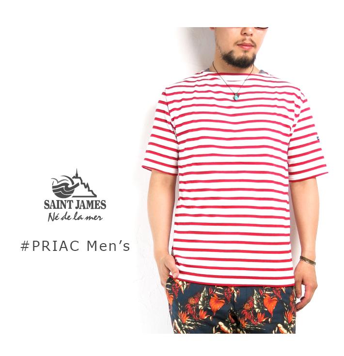 SAINT JAMES #PIRIAC ピリアック ≪ ' 14ss Collor ≫ 반 소매 보트 넥 보더 티셔츠 BoatNeck Boder T-Shirt 해양 Marine 프랑스 제 France 목화 Cotton 바스크 셔츠