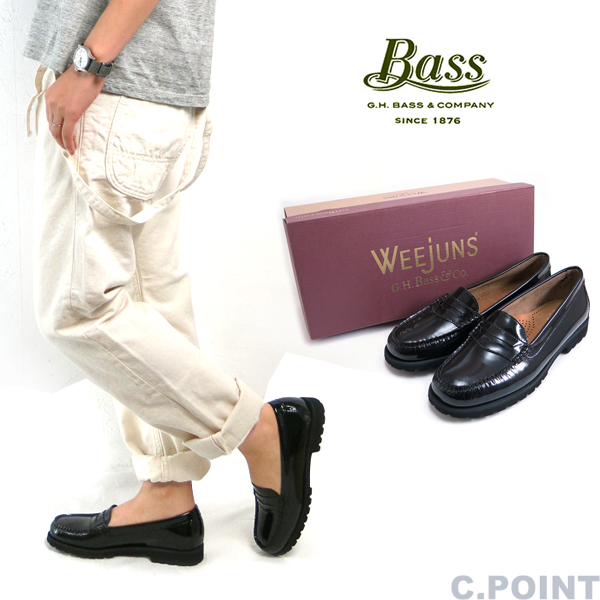 (G. H. bus) G.H.Bass Lady's #WAYFARER Patent Leather Loafer # Wayfarer  authorised another Japan note patent leather lug sole loafers «» (women's /  black ...