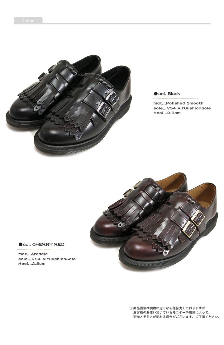 (马丁) Dr.Martens 妇女 #ELLARIA 双 MonkStrap W/Kiltie 鞋 # 爱丽亚星球双僧侣带 W 被子切的皮革弹跳灵魂 «» (女士皮革 / 年排序 / 经典 / 摇滚 / 正式 / 黑 / 红酒)