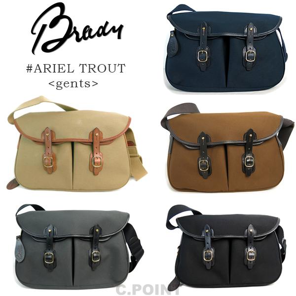 (18aw 再入荷)(ブレディ) Brady #ARIELTROUT Gents Made In ENGLANDアリエルトラウトジェンツ コットンツイル ブライドルレザー ショルダーバッグ (送料無料/男女兼用/メンズ/レディース/鞄/イングランド/プレゼント/ギフト/贈り物)