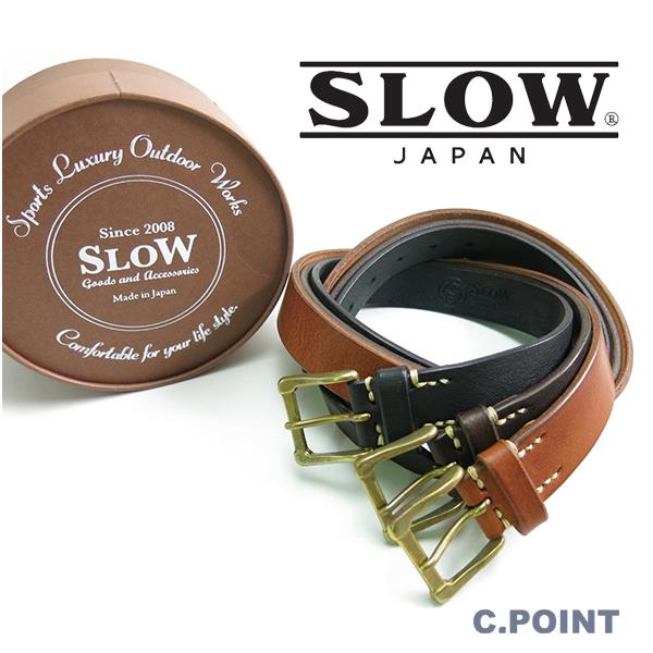 (スロウ) SLOW #HS23E Narrow Plain Belt -tochigi leather-ナロープレーンベルト 栃木レザー 牛革 カウレザー フルベジタブルタンニン オンオフ 3cm幅 男女兼用 日本製(送料無料/Men's/Lady's/XS/S/M/プレゼント/ギフト)