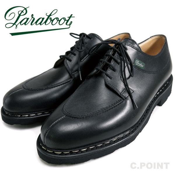 (パラブーツ) Paraboot #AVIGNON -Noir- アヴィニョン Uチップ シューズ U-Tip ノワール ブラック 黒 Griff2 リスレザー グリフ2ソール ノルヴェイジャン製法 フランス製 (送料無用/メンズ/オイルド/Lisse/アヴィニヨン/ストームウェルト/革靴)