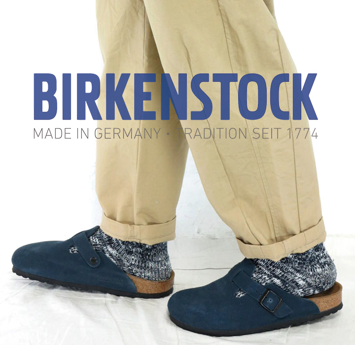 38be6b7869fd Product made in (18SS) (ビルケンシュトック) BIRKENSTOCK  BOSTON Boston Japan comment  NAVY navy Swados aide leather narrow clog sandals men genuine leather ...