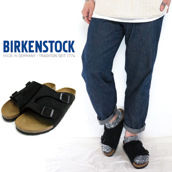 cb5ccc104127 Product made in (18SS) (ビルケンシュトック) BIRKENSTOCK  ZURICH BLACK Zurich Japan  comment black Swados aide leather narrow sandals men genuine leather ...