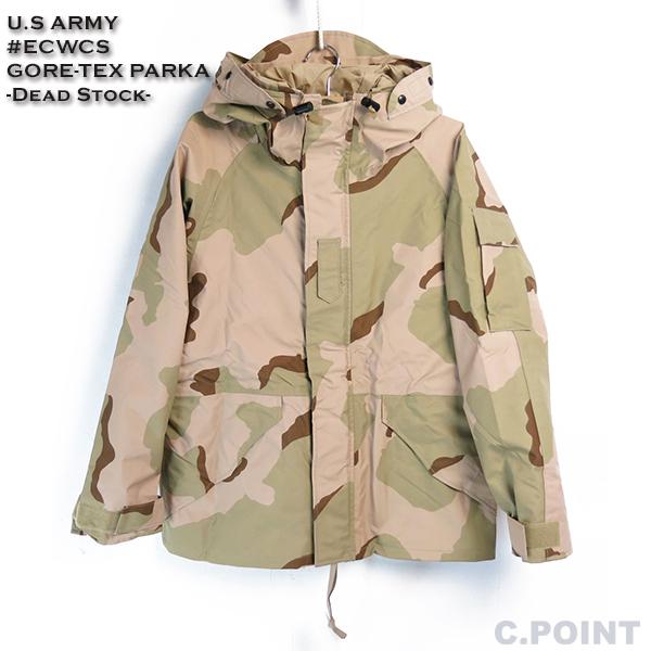 (U.Sアーミー) U.S ARMY #ECWCS Gore-Tex Parka メンズ エクワックス ゴアテックスパーカー ミリタリージャケット ナイロンパーカー 新品 デッドストック 3Cデザートカモ 迷彩(送料無料/ミリタリー/軍モノ/アメリカ製/USA/S-XS/M-S)