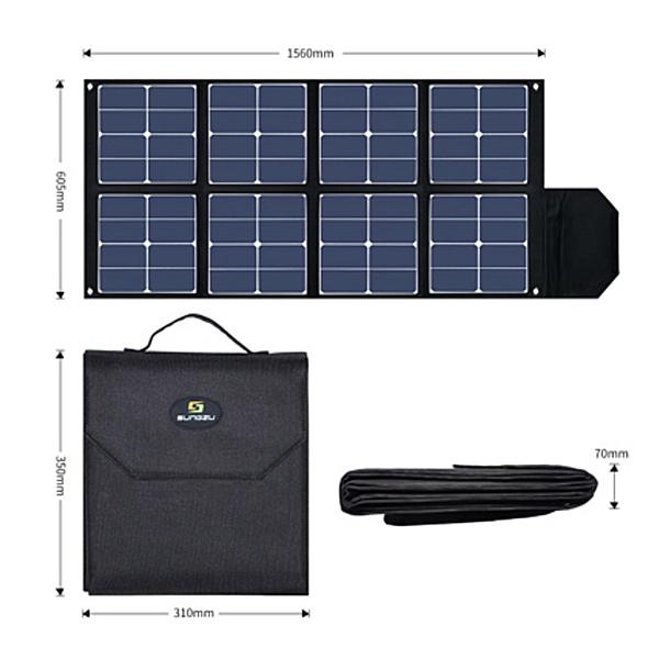 SUNGZU サンズ SD100-1 ポータブル電源APS100用 100W ソーラーパネル 2.5kg 折りたたみ式ソーラーバッグ