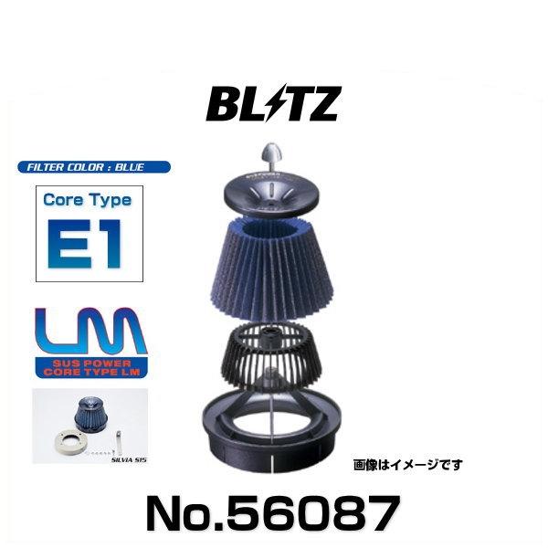 BLITZ ブリッツ No.56087 レガシィB4、レガシィツーリングワゴン用 サスパワーコアタイプLM エアクリーナー
