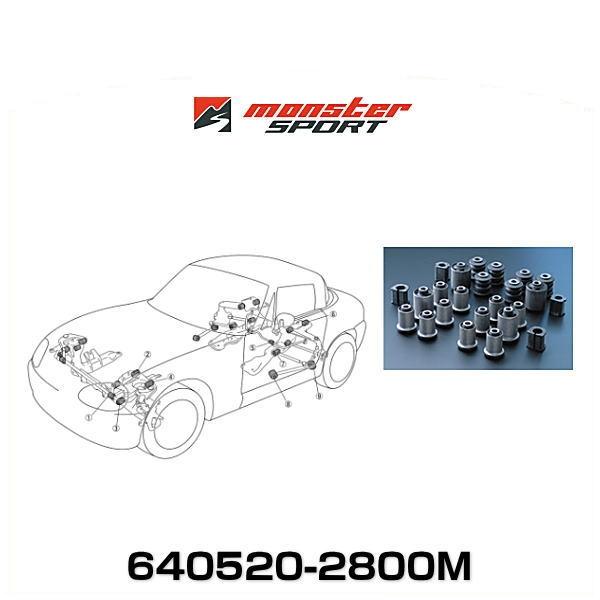 Monster SPORT モンスタースポーツ 640520-2800M Frφ21/Rrφ16強化スタビライザー用 1台分(24点set) サスペンションブッシュセット カプチーノ用