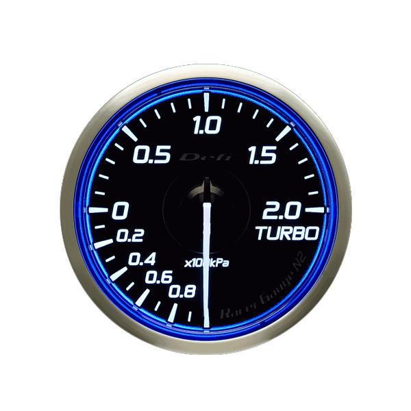 日本精機 Defi デフィ DF16601 Racer Gauge N2 φ60 ターボ計/Max200kPa-100kPa~+200kPa レーサーゲージN2