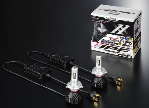 【在庫有】IPF 141HLB2 H4 LED LED ヘッドバルブ X2 コンパクト6500K 12V/24V 25/21W ハイ:4000lm ロー:2800lm バルブ2本分(車両1台分合計値)