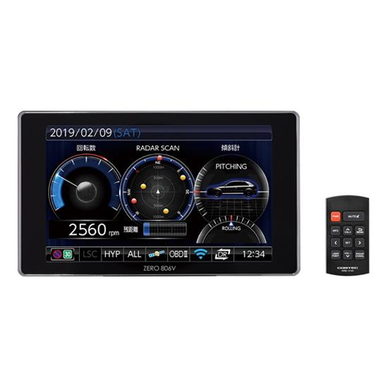COMTEC コムテック ZERO 806V 4インチ大画面&静電タッチパネル レーダー探知機