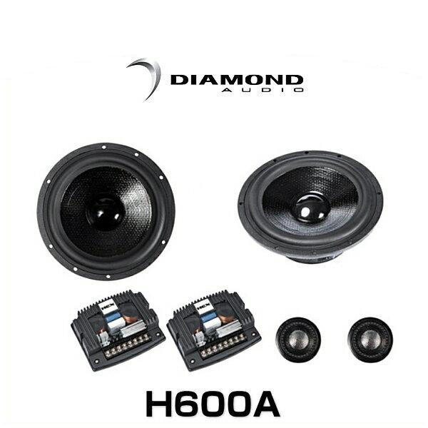 DIAMOND AUDIO ダイヤモンドオーディオ H600A 6.5インチ 2ウェイ セパレートスピーカー